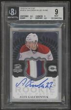 2013-14 UD The Cup Alex Galchenyuk 3 Color Patch RC Rookie Auto /99 BGS 9