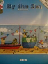 """Cross stitch Kits Karen Carter By the Sea"""" Boats""""New by Heritage Crafts"""