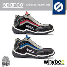 07510 SPARCO TRACK H S3 SAFETY SHOE BOOTS WORKSHOP GARAGE TRAINERS SUEDE LEATHER