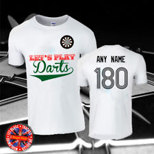 Let's Play Darts Personalised T-shirt, Any Name/Number, Gift, Mens, Ladies, Kids