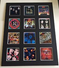 """Kiss 14"""" by 11"""" LP Covers Picture Mounted Ready to Frame"""