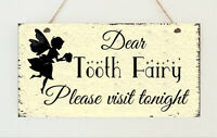 Personalised Plaque Tooth Fairy Birthday Christmas Daughter Gift Room Sign