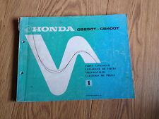 Teile-Katalog Honda CB 250/400 T, Teilekatalog, parts catalogue, cat. de pièces