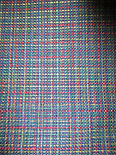 Upholstery Fabric navy red green gold muted Plaid Check 1 1/2 yd x 44 inches