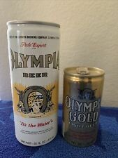 Olympia Flat Top Beer Cans 16oz & 7oz Very Neat Old Skool Beer Cans Pull Tab