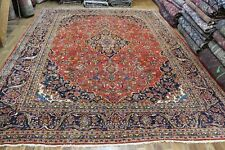 Old Handmade Persian Kashan Wool Carpet Great Condition 395 x 300 cm