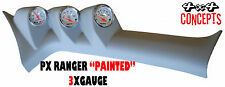 3 GAUGE PILLAR POD TO SUIT FORD PX RANGER 2011 - Current 52MM PAINTED GREY