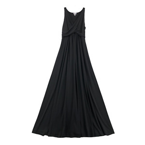A Pea in the Pod Women's Maternity Maxi Tank Dress Large Polyester Black V-Neck