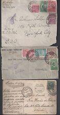 BRAZIL 1913 1933 SAO PAULO TWO PAN AMERICAN AIRWAYS COVER & POST CARD RIO DE JAN