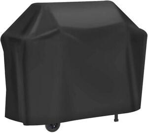 Telo copri barbecue impermeabile Per protezione BBQ grill 147x61x117, Nero 210D