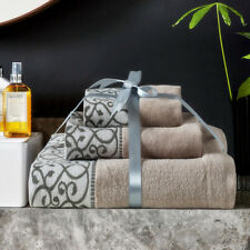 100% Pure Egyptian Cotton Leopard Luxury Towel Face Hand Bath Towels 1 Set of 3