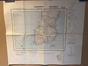 German Map of Campbeltown (c1938) Scotland Sheet 29