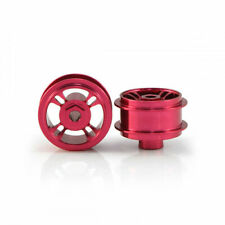 STAFFS48 4 Spoke 15.8 x 8.5mm Red Alloy Wheels (2 pcs)
