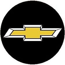 4 NEW STYLE CHEVY BLACK&CHROME&GOLD 2.56 DOMED WHEEL CENTER CAP STICKER DECALS