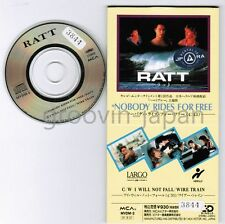 "RATT Nobody Rides For Free JAPAN 3"" CD SINGLE MVDM-2 WIRE TRAIN I will Ex-RENTAL"