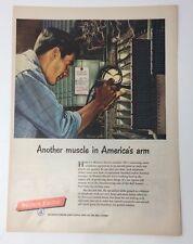 Original Print Ad 1952 WESTERN ELECTRIC Muscle in America's Arm