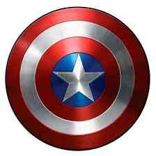 "Captain America Shield Iron On Transfer 5"" x 5"" for LIGHT Colored Fabrics"