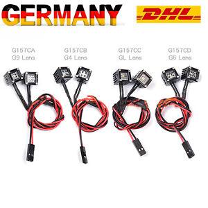 für 1/10 SCX10 III Kletterauto RC-Automodell Quadratische Scheinwerferlampe DHL