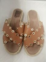 Russel & Bromley Leather Crossover Stud Espadrille - Size 5UK (38EU)