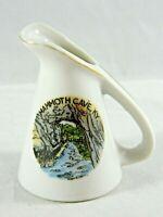 Vintage MAMMOTH CAVE Kentucky KY Small Porcelain Pitcher Souvenir Mid-Century