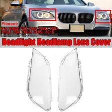 Pair Headlight Headlamp Lens Cover For BMW F01 F02 740i 740Li 750i 750Li 760i