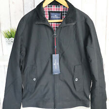 M&S Black Harrington Overshirt Wax Jacket Water resistant Lightweight Coat UK S