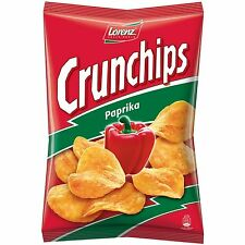Lorenz Crunchips PAPRIKA European potato chips -150g-