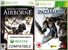 2X XBOX 360 Games MEDAL OF HONOR AIRBORNE & WARHAMMER 4000 SPACE MARINE