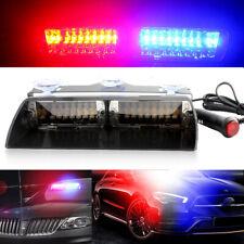Auto Car 16LED Blue & Red Police Strobe Flash Light Dash Emergency Flashing Lamp