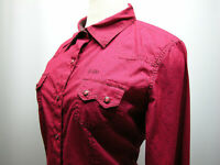 Women's Cruel Girl Western Rodeo Shirt XL Red Wine Pearl Snap Long Sleeve
