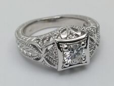 1/2 Carat Vintage Style Filigree Engagement Ring