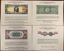 United States BEP B 53-57 Souvenir Cards 1981-82 Mint