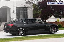 20x9 20x11 +28 Rohana RC20 5x114 Machine Rims Fit Maserati Ghibli 2014 Staggered