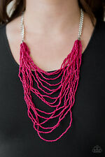 Paparazzi jewelry pink seed beads Necklace & Earrings