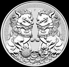 2020 Silver Australia 1 oz .9999 Fine Guardian Lions Pixiu Coin Brilliant Unc+