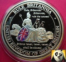 LARGE 50mm Britannia Rule The Waves Gold Plated Medal Limited Edition of 9,999