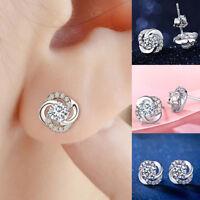 LC _Mode Femmes strass oreille boucles d'oreilles bijoux fête cocktail Cadeau