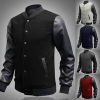 2016 Retro Style Mens Varsity Letterman College Jacket Baseball Sport Jacket Top