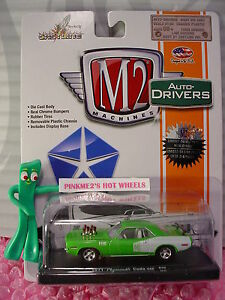 Castline M2 Machines 1971 PLYMOUTH CUDA 440∞Sublime Green/ White;Rubber Tires✰