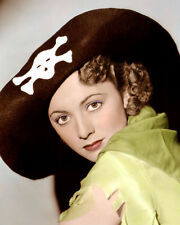 "OLIVIA DE HAVILLAND CAPTAIN BLOOD 1935 ACTRESS 8x10"" HAND COLOR TINTED PHOTO"