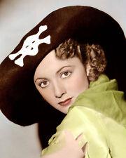 "OLIVIA DE HAVILLAND CAPTAIN BLOOD 1935 ACTRESS 8x10"" HAND COLOR TINTED PHOTO"