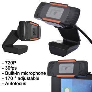 720P Webcam Video Camera With Microphone Autofocus for Laptop Desktop Computer