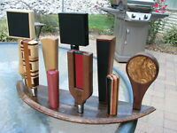Kentucky whiskey barrel end 9 beer tap handle display stand