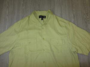 Nat Nast Luxury Originals Green 100% Silk Dress Shirt Large Lounge Relax Rare