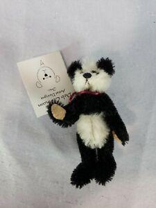 """DEB CANHAM  """"PANDA"""" Bear MOHAIR-FULLY JOINTED-MINI 3 1/4""""  #88/5000"""