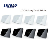 Livolo AU/US 1/2/3/4 Gang 1Way Multiple Choices Home Wall Touch Switch