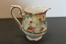 "Royal Albert Rosetime Mini  3"" Creamer w/ Inner Gold Band--Excellent!"