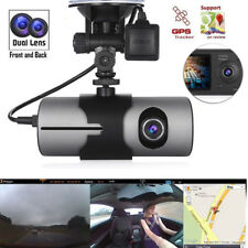 Dual Lens HD 720P Auto Kamera Vehicle DVR Überwachung Dashcam Recorder Mit GPS