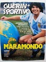 GUERIN SPORTIVO 27-1986 +FILM DEL MUNDIAL MEXIGOL MARADONA ARGENTINA CAMPIONE