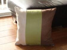 Suede Striped Decorative Cushions